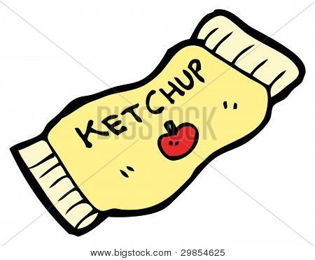 ketchup sachet cartoon