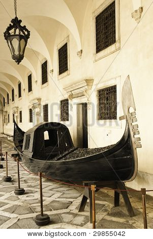 Gondola In The Doge Palace