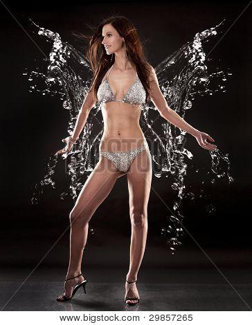 Brunette In Bikini