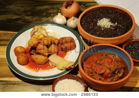 Постер, плакат: Кубинские блюда, холст на подрамнике