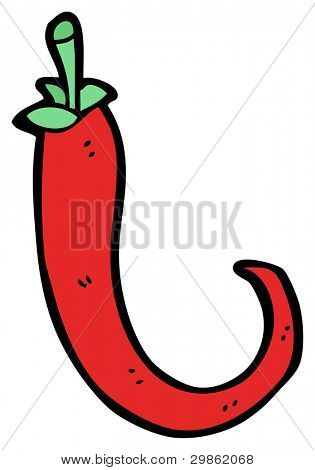 hot chili pepper cartoon