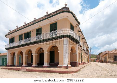 A view of one of thebuildings in Trinidad, cuba