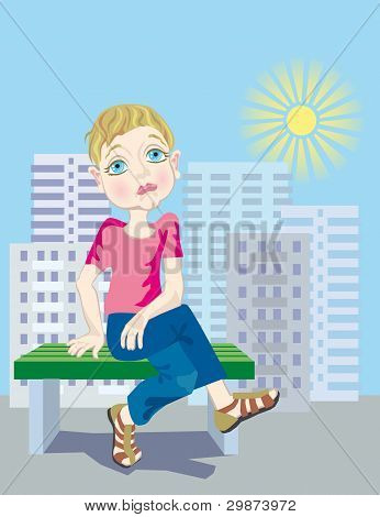 Boring Summer In The City For The Child