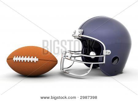 Helmet And Football