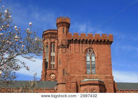 Smithsonian Castle, Landmark Of Washington Dc