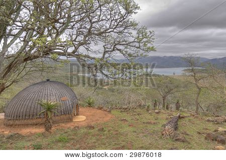 Traditional Zulu Hut in South Africa