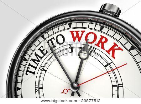 Tiempo para trabajar el reloj de concepto