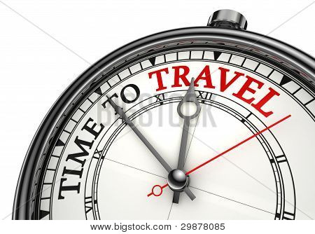 Time To Travel Concept Clock