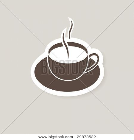 Cup of coffee with milk. Vector illustration