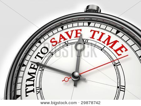 Time To Save Time Concept Clock