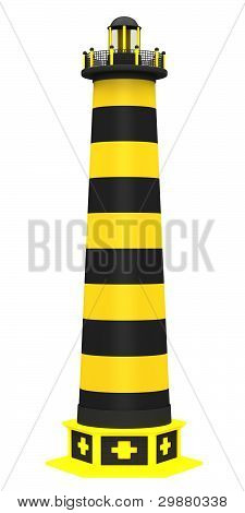 Lighthouse in the bright yellow colors
