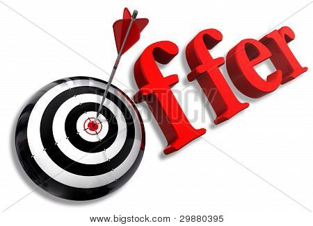 Offer Red Word And Conceptual Target