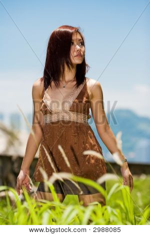 Young Woman Outdoors