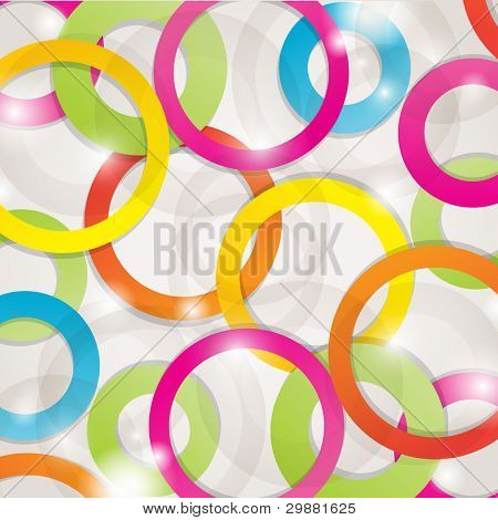 Abstract background with lights and circles