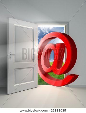 Correo electrónico símbolo Conceptual puerta