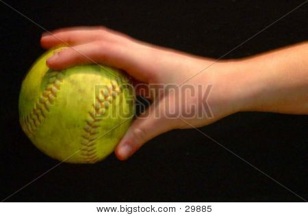 Softball In Hand