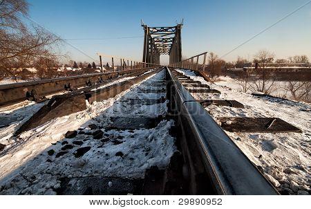 The Railway Bridge In Winter