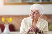 Portrait of an elderly woman poster