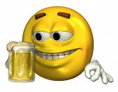 Beer Drinking Emoticon