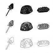 Vector Illustration Of Confectionery And Culinary Symbol. Collection Of Confectionery And Product St poster