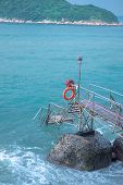 Area Of Photographer Name Sai Wan Swimming Shed Located In Kennedy Town With Offshore Step Into The  poster