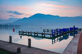 Annecy Lake And Alps Mountains At Sunrise, France, Venice Of The Alps, France poster