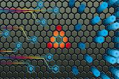 image of graphene  - Electronic microprocessor inside - JPG