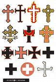 pic of maltese-cross  - A selection of cross design elements - JPG
