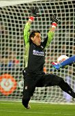 BARCELONA - FEB, 4: Claudio Bravo of Real Sociedad in action during the Spanish league match against