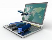 stock photo of aeroplane  - concept of logistics - JPG