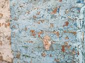 Concrete Wall Cracked Paint, Paint Abstractly Behind The Concrete. Texture, Pattern, Background. Old poster