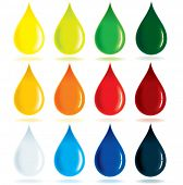 foto of oil drop  - Paint Ink Drops - JPG
