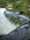 pic of poitiers  - River weir and reflection in Poitiers France - JPG