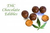 THC Edibles, CBD Edibles. Chocolate CBD Chocolates.  poster