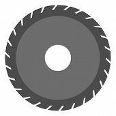 Circular Saw Blade Vector. Circular Saw Blade. Carpenter Symbol And Electric Saw Blade poster