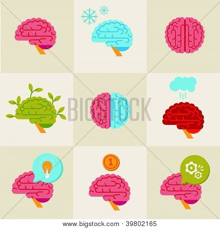 Iconos del cerebro