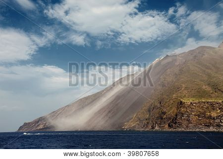 Stromboli Volcano In Italy