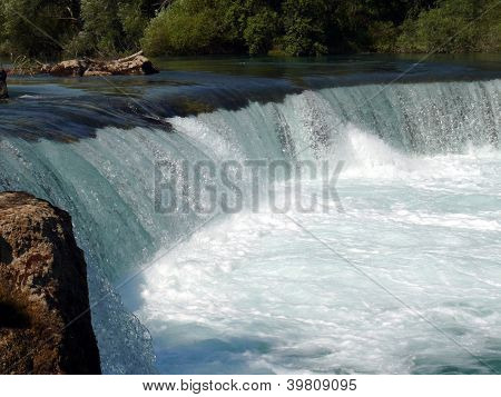 Waterfall In Manavgat River, Side, Antalya Region, Turkey