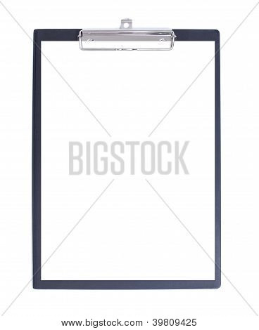 Black Clipboard with piece of paper