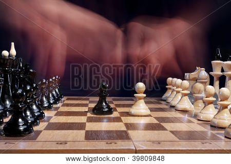 chess battle creative