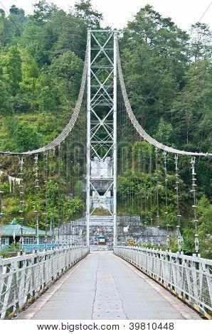 Rope Bridge In Pelling