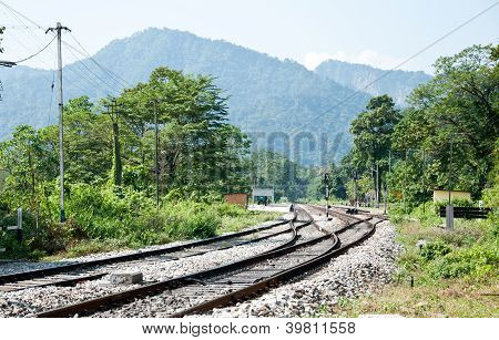 Railway In The Rural Of Indian