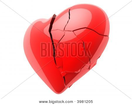 Broken Red Heart