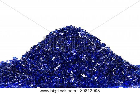 blue transparent polymer