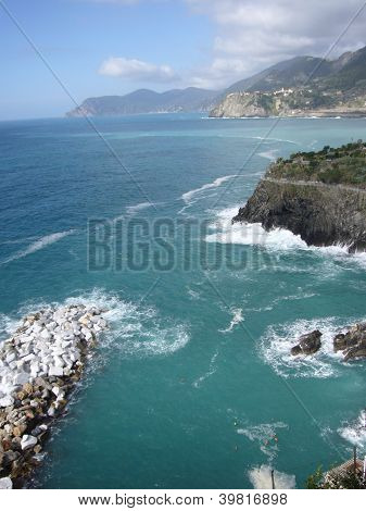 rocky coast of liguria