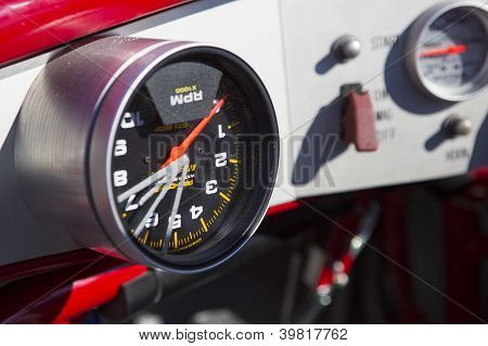 Salt Lake, Ut - September 8: Detail Of A Reversed Speedometer Of An Unidentified Car During The Worl
