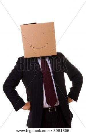Cardboard Businessman