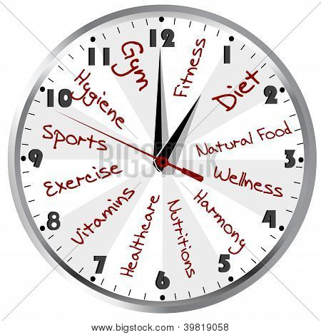Conceptual Clock For A Healthy Life