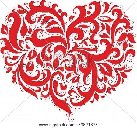 Modelado de coração vermelho