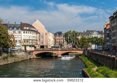 Canal In Strasbourg Sity Center, France